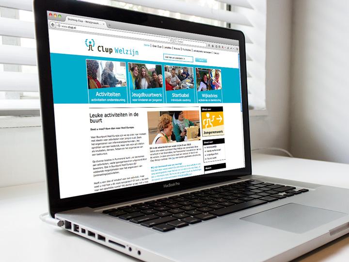 Clup Welzijn website home