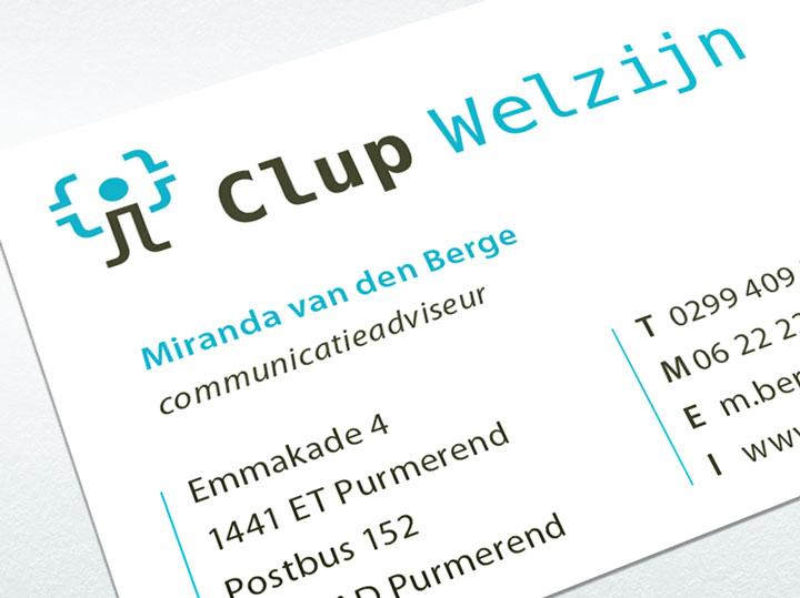 Clup Welzijn visitekaartje