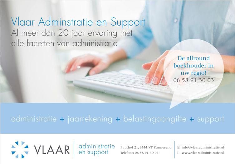 Flyer Vlaar Administratie en Support