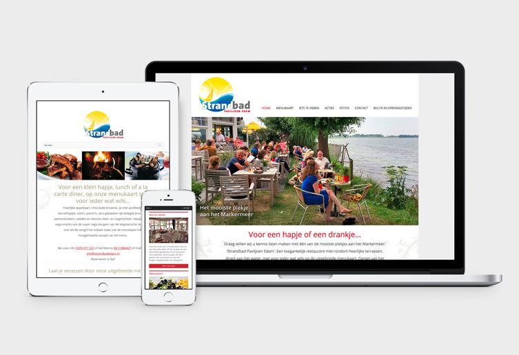 Website Strandbad Paviljoen Edam